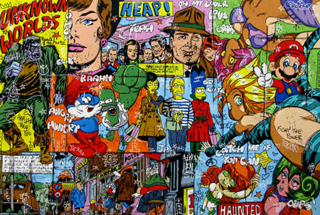 tableau street pop art