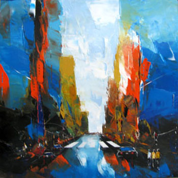 peinture artiste new york F boutet